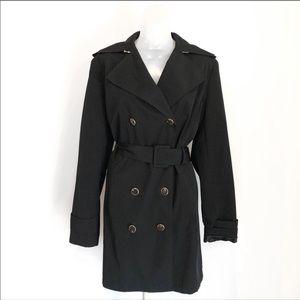 Calvin Klein   Black Double Breast Long Coat